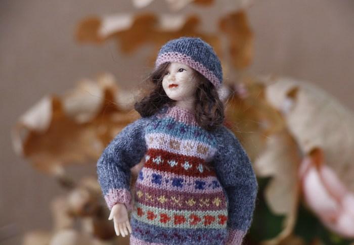 Fair Isle sweater for Heidi Ott lady doll