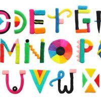 Tipografía de plastilina