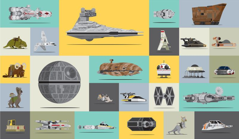 Las naves de Star Wars ilustradas por Scott Park