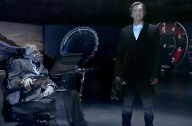 Stephen Hawking spot publicidad jaguar villano