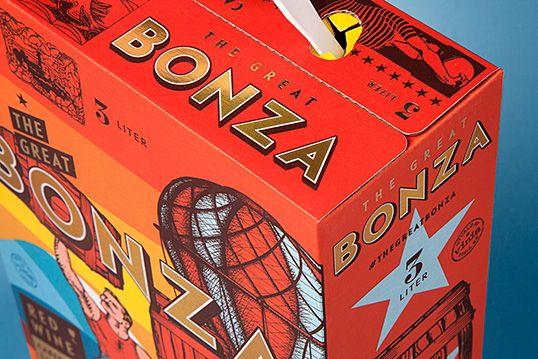 vino australiano bonza packaging