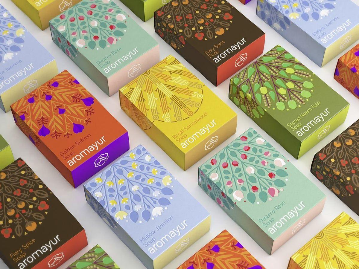 El colorido packaging de Aromayur