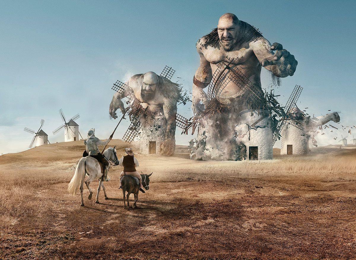 ¿Qué ves molinos o gigantes?
