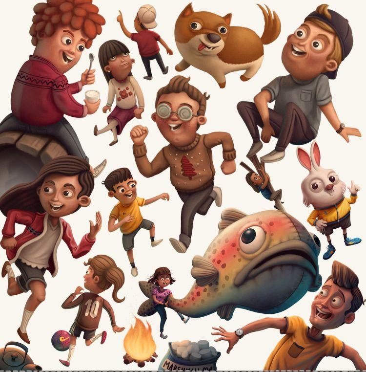 diseño de personajes Sergio Edwards creatividad