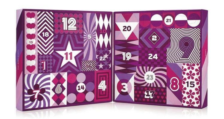 creatividad de calendarios de adviento con diseño