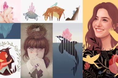 Ilustración digital lápices colores