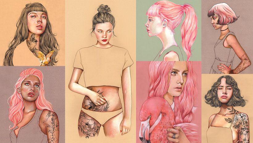 Curso de Ilustración con Pastel y Lápices de Colores