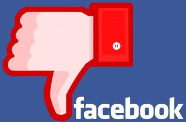 Facebook dislike pulgar abajo