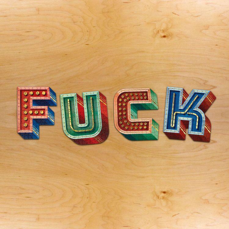 puzzles lettering cretividad