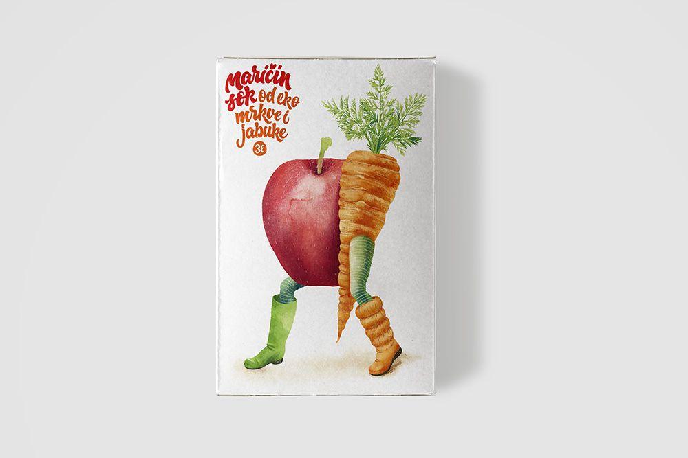 packaging zumo con botas acuerla creatividad