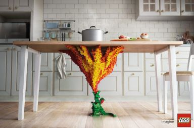 campaña publicitaria de lego donde cobran vida las piezas