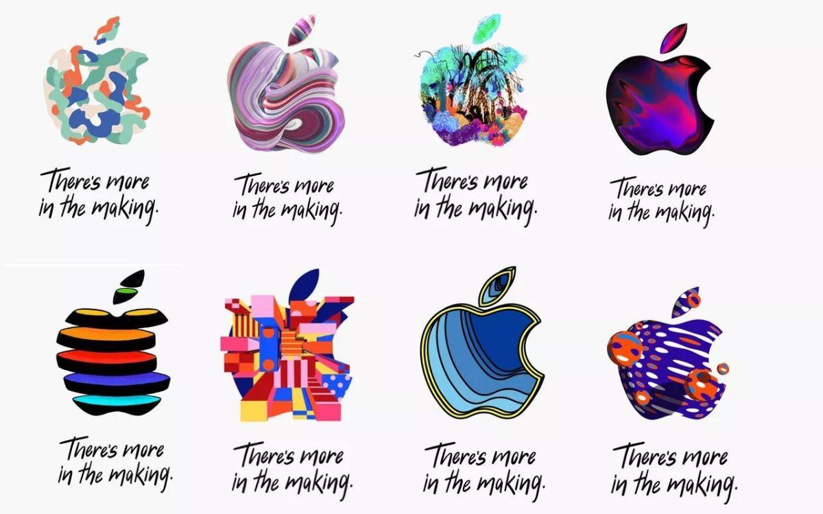 Versiones del logo de Apple para invitar a su próximo evento