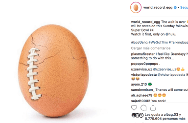 Huevo de Instagram