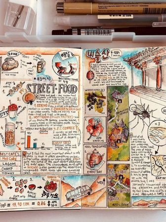 travel book ilustrado