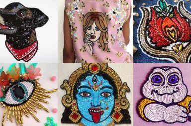 retratos bordados pedrería