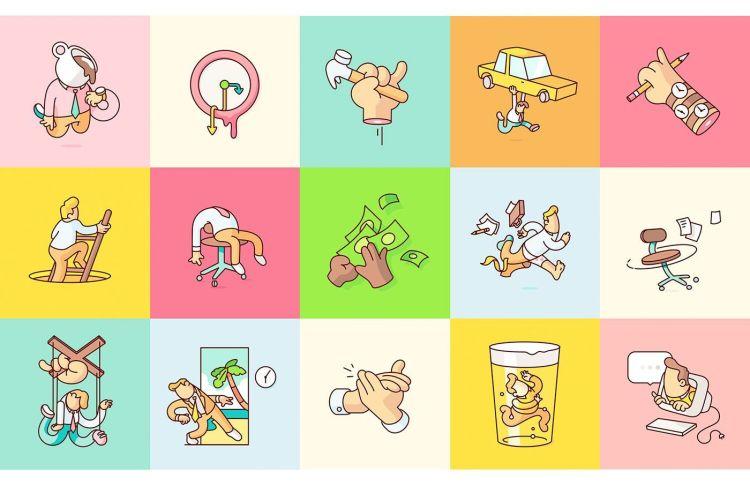 burn toast creative ilustraciones y animaciones