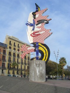 I'm always a fan of a giant Lichtenstein sculpture