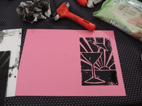 My first ever lino printing!!
