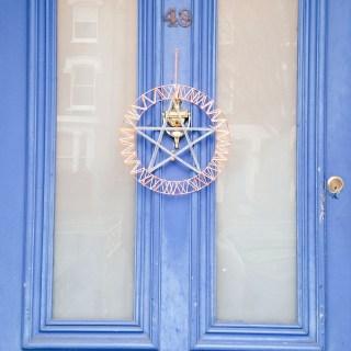 Star wreath on door