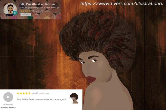 afro hair -2 portfolio