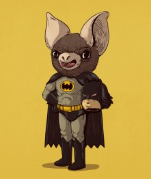 batman - Illustrator Alex Solis Unmasks the True Identities of Famous Cartoon Characters