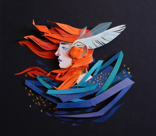 Mythical Cut Paper Collages by Artist Morgana Wallace