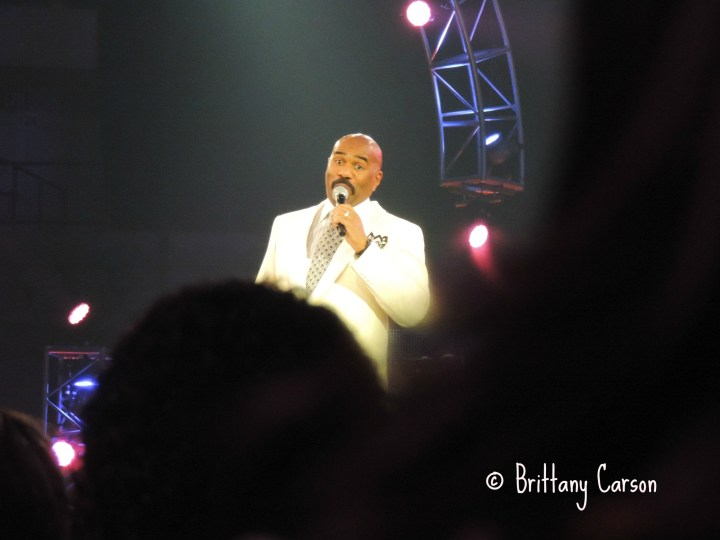 Comedian Steve Harvey kept the crowd in stitches! He is really hilarious. I was thrilled that he was able to host the event.