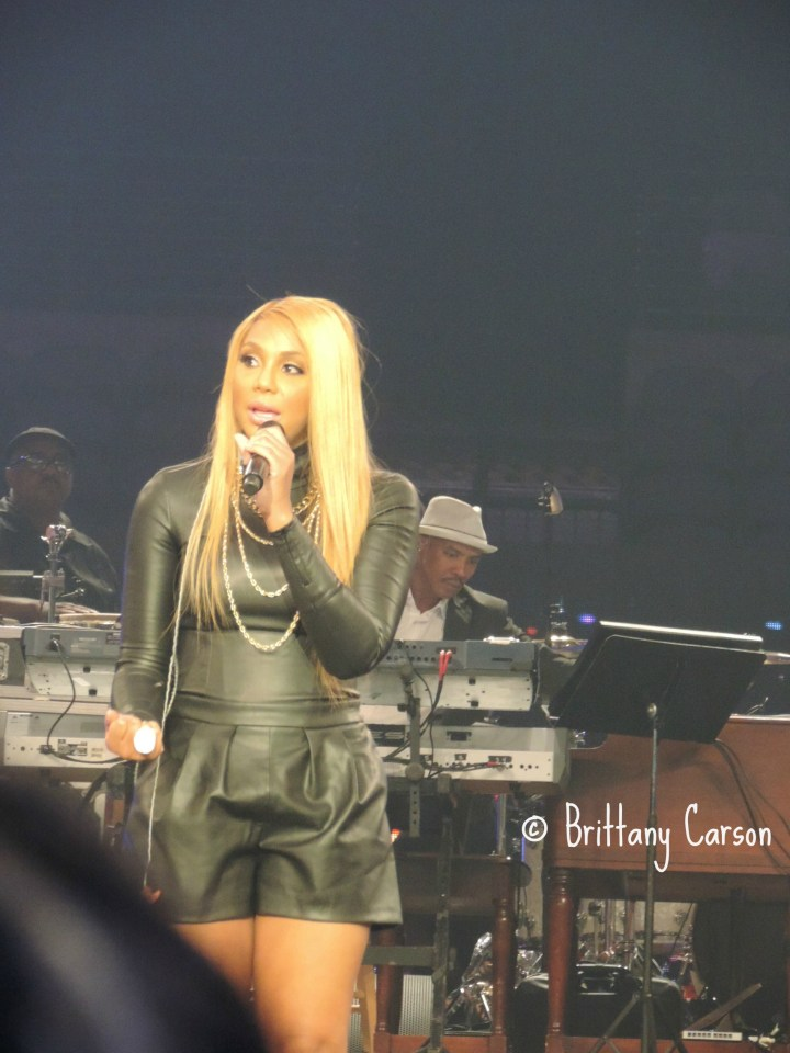 """Tamar Braxton sang her new single """"The One"""" and her #1 hit """"Love & War"""". At the end of her performance she shared her testimony about how she had attempted to be successful in the music industry for many years and how she felt so blessed by her recent success. It was a very encouraging message to dreamers like myself. It just goes to show that a delay in making your dreams come true does not necessarily mean its a denial. It just may not be your time to shine. When your time arrives, no one can stop you from walking in your destiny!"""