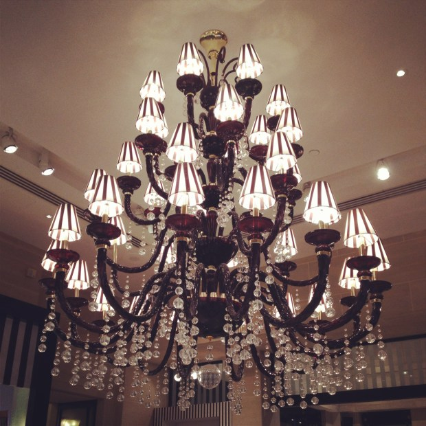 Loved this chandelier in Henri Bendel. So chic!