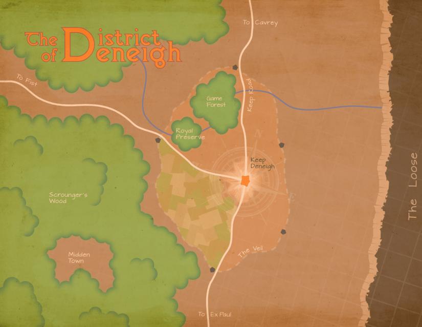 The territory immediately surrounding Keep Deneigh.