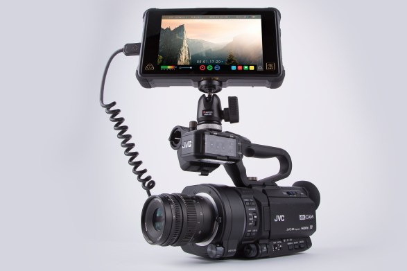 JVC GY-LS300 4K camcorder with Atomos Ninja Inferno monitor/recorder