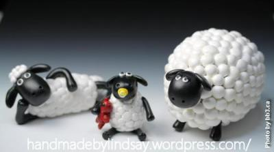Shaun the Sheep: A Creation in Polymer Clay by Handmade by Lindsay