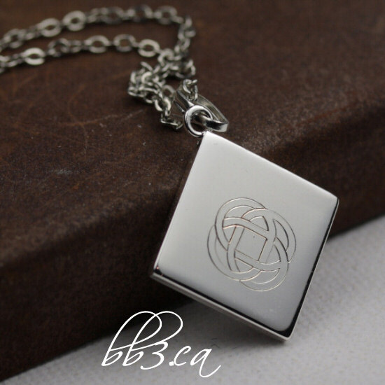 celtic knot necklace in silver