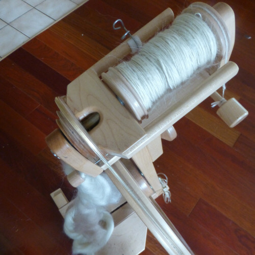 Mohair handspun on my Lendrum spinning wheel