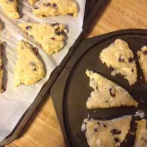 Scones before baking