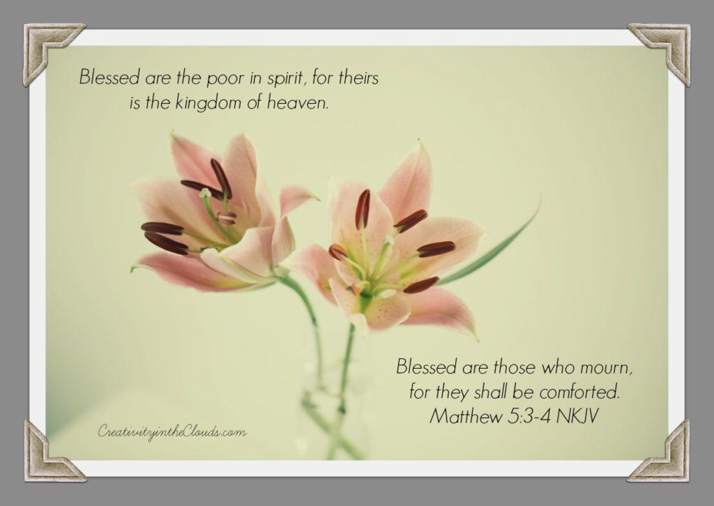 Matthew 5:3-4 Lily Image