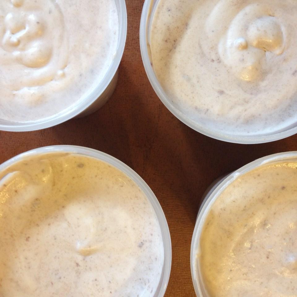 16 ounce servings of Cherry Chocolate Chunk Ice Cream