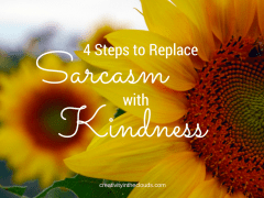 Replacing Sarcasm with Kindness