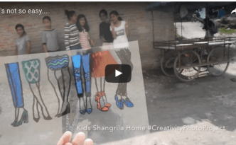 It's not so easy…. (Video) creativity photo project in Nepal