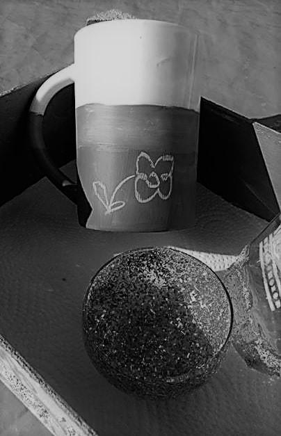 Tasse mit Blume
