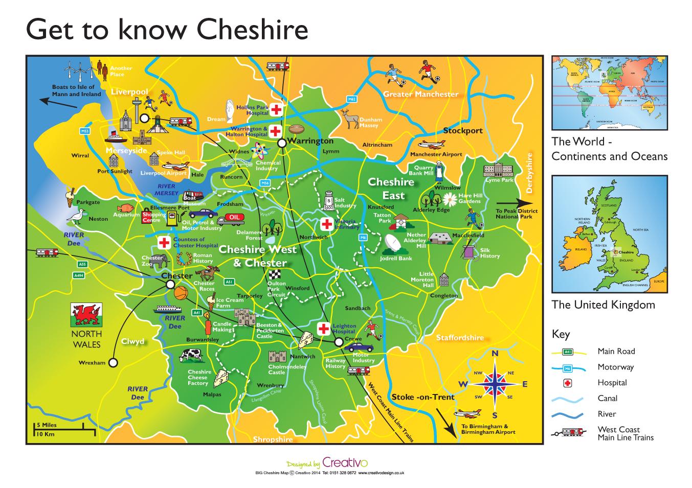 Cheshire Map Schools Geography Cheshire Ks1 Ks2