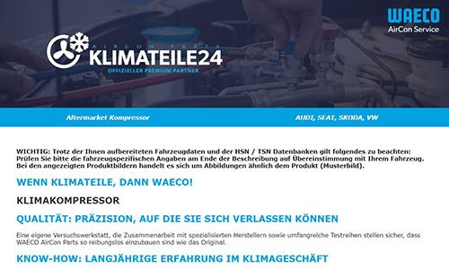 Creativ Think Webdesign Ebay-Afterbuy-Template Klimateile24