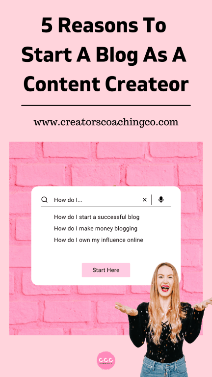 5 reasons to start a blog as a content creator or influencer