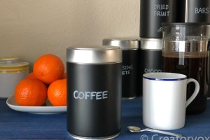 How To Upcycle Coffee Cans Into Organizational Bliss