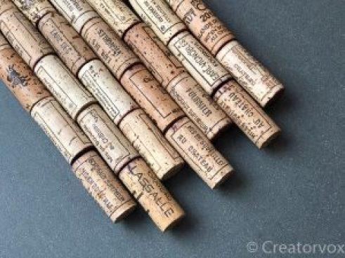 rows of corks arranged in a staggered pattern