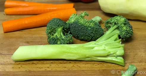 peel the stalk for broccoli cheddar soup