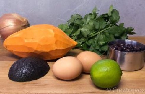 Southwestern Sweet Potato Skillets ingredients