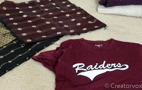 t-shirt and pillow covers to upcycle into lavender sachets