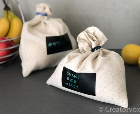 reusable produce bags with erasable labels