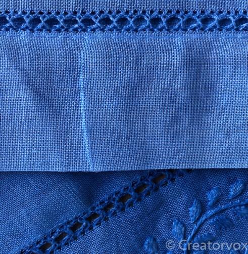 shibori indigo dyeing dyed seam detail